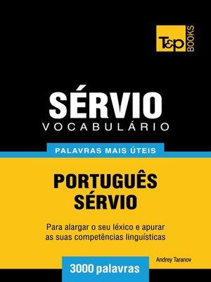 cover image of Vocabulário Português-Sérvio