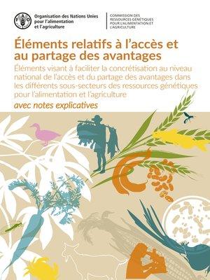 cover image of Éléments relatifs à l'accès et au partage des avantages