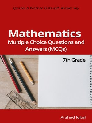cover image of Grade 7 Math Multiple Choice Questions and Answers (MCQs)