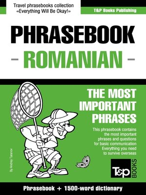 cover image of English-Romanian phrasebook and 1500-word dictionary