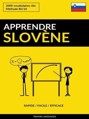 cover image of Apprendre le slovène