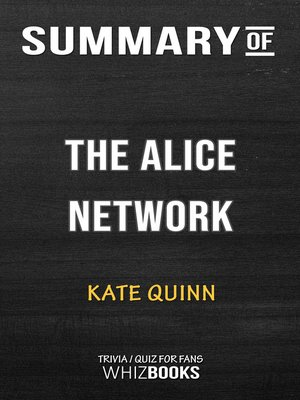 cover image of Summary of the Alice Network