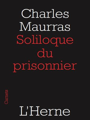 cover image of Soliloque du prisonnier