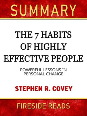 cover image of Summary of the 7 Habits of Highly Effective People