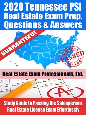 cover image of 2020 Tennessee PSI Real Estate Exam Prep Questions & Answers