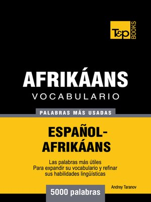 cover image of Vocabulario Español-Afrikáans