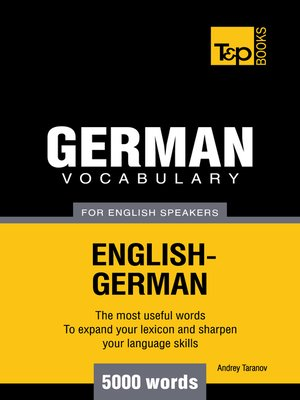 cover image of German Vocabulary for English Speakers