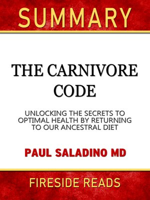 cover image of Summary of the Carnivore Code