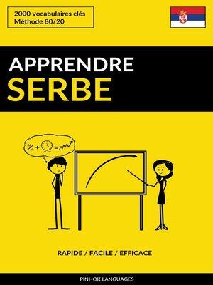 cover image of Apprendre le serbe