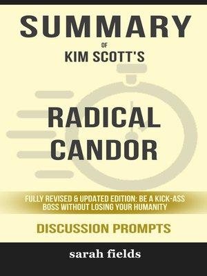 cover image of Summary of Radical Candor