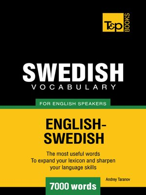 cover image of Swedish Vocabulary for English Speakers