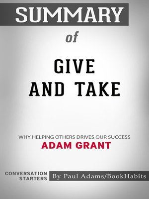cover image of Summary of Give and Take