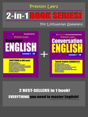 cover image of Preston Lee's 2-in-1 Book Series! Beginner English & Conversation English Lesson 1