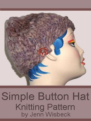 cover image of Simple Button Hat Knitting Pattern