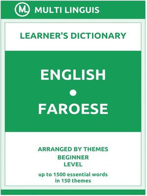 cover image of English-Faroese Learner's Dictionary (Arranged by Themes, Beginner Level)