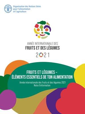cover image of Fruits et légumes