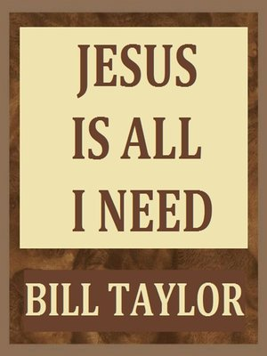cover image of Jesus Is All I Need