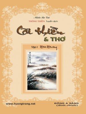 cover image of Cõi Thiền & Thơ.