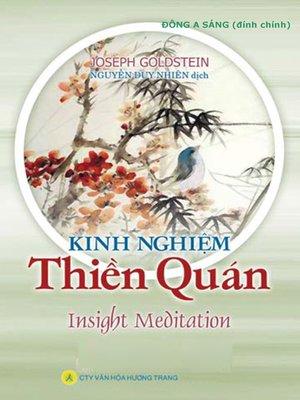 cover image of Kinh nghiệm Thiền quán.