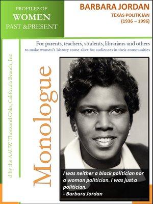 cover image of Profiles of Women Past & Present – Barbara Jordan, Texas Politician (1936-1996)