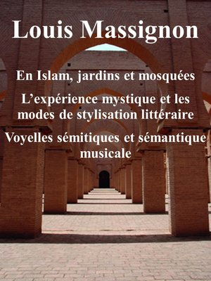 cover image of En Islam, jardins et mosquées