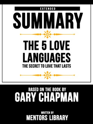 cover image of Extended Summary / the 5 Love Languages