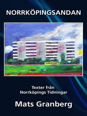 cover image of Norrköpingsandan, texter från Norrköpings Tidningar