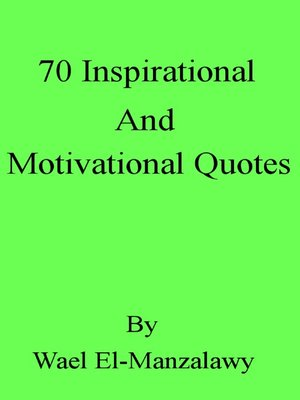 cover image of 70 Inspirational and Motivational Quotes
