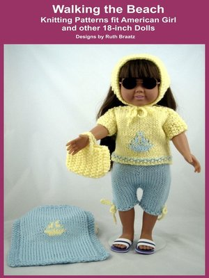 cover image of Walking the Beach, Knitting Patterns fit American Girl and other 18-Inch Dolls