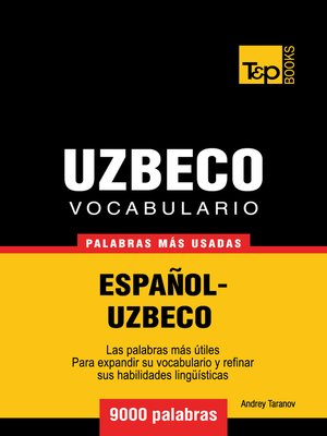cover image of Vocabulario Español-Uzbeco