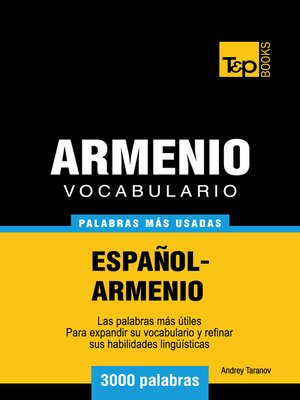 cover image of Vocabulario Español-Armenio