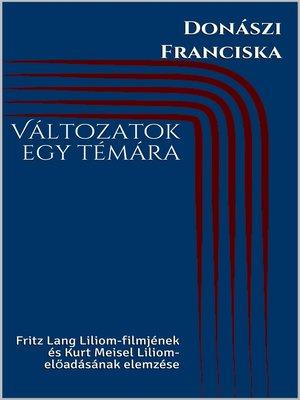 cover image of Változatok egy témára