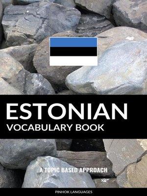 cover image of Estonian Vocabulary Book