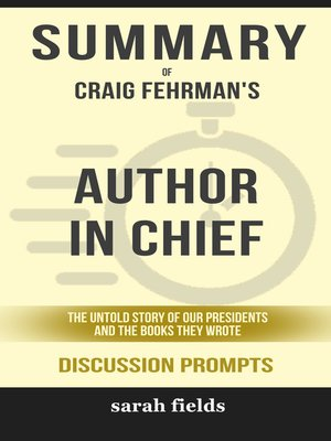 cover image of Summary of Author in Chief