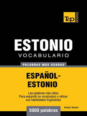 cover image of Vocabulario Español-Estonio