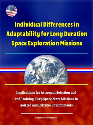 cover image of Individual Differences in Adaptability for Long Duration Space Exploration Missions
