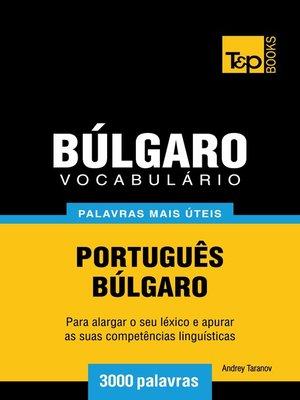 cover image of Vocabulário Português-Búlgaro