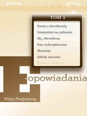 cover image of E-opowiadania [1]
