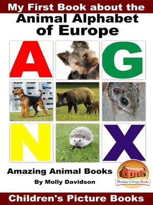cover image of My First Book about the Animal Alphabet of Europe