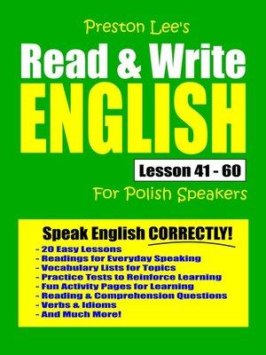 cover image of Preston Lee's Read & Write English Lesson 41