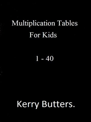 cover image of Multiplication Tables For Kids 1