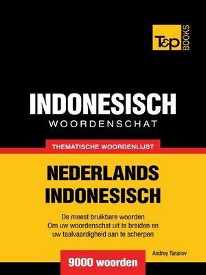 cover image of Thematische woordenschat Nederlands-Indonesisch