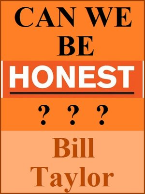 cover image of Can We Be Honest