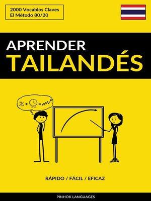 cover image of Aprender Tailandés