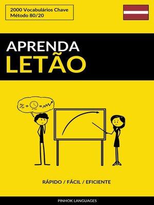 cover image of Aprenda Letão