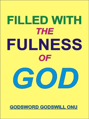 cover image of Filled with the Fulness of God