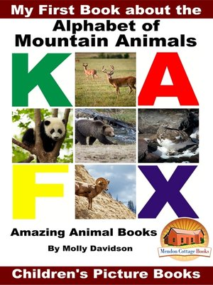 cover image of My First Book about the Alphabet of Mountain Animals