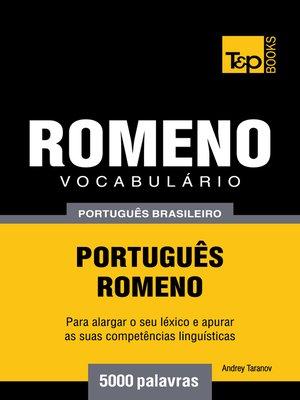cover image of Vocabulário Português Brasileiro-Romeno