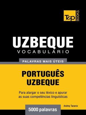 cover image of Vocabulário Português-Uzbeque