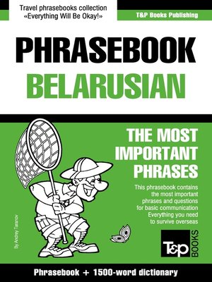 cover image of English-Belarusian phrasebook and 1500-word dictionary
